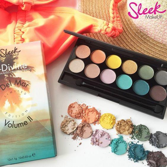 Sleek MakeUP Paleta De Farduri Sleek Eyeshadow Palette Del Mar Vol II