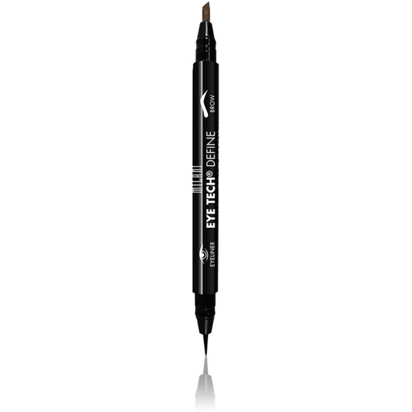 Contur De Ochi Milani Eye Tech Define 2 in 1 Brow+Eyeliner Felt Tip Pen Dark Brown/Black