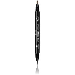 Contur De Ochi Milani Eye Tech Define 2 in 1 Brow+Eyeliner Felt Tip Pen Dark Brown/Black