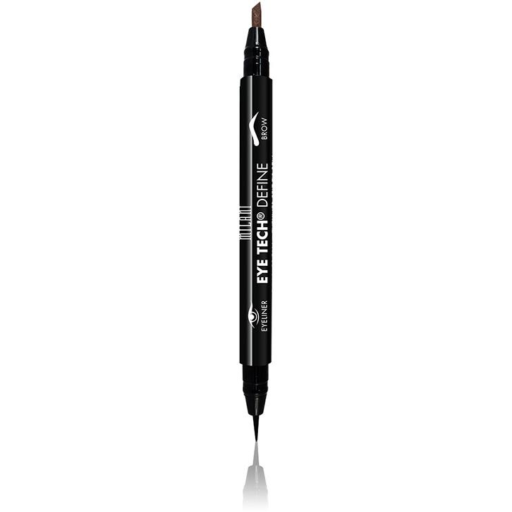 Imagine Contur De Ochi Milani Eye Tech Define 2 In 1 Brow+eyeliner Felt Tip Pen Medium Brown/black