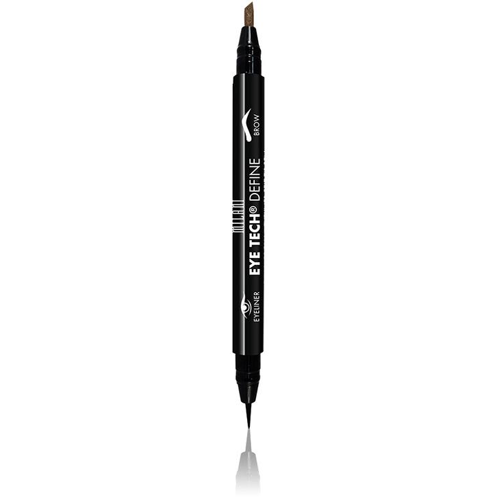 Imagine Contur De Ochi Milani Eye Tech Define 2 In 1 Brow+eyeliner Felt Tip Pen Natural Taupe/black