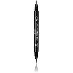 Contur De Ochi Milani Eye Tech Define 2 in 1 Brow+Eyeliner Felt Tip Pen Natural Taupe/Black