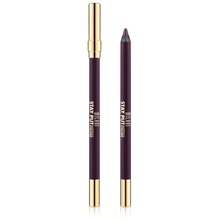Creion De Ochi Milani Stay Put Waterproof Eyeliner Fixed On Plum