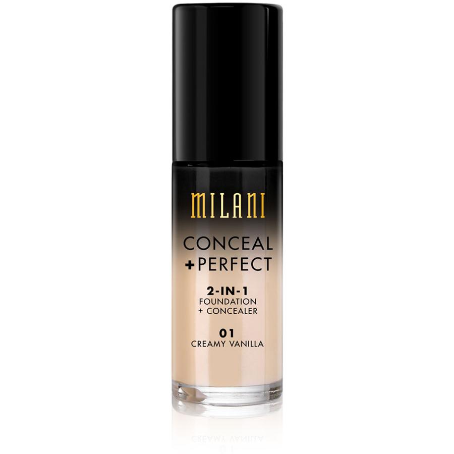 Fond De Ten + Corector Milani Conceal + Perfect 2 in 1 Foundation + Concealer Creamy Vanilla - 0