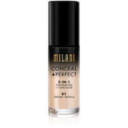 Fond De Ten + Corector Milani Conceal + Perfect 2 in 1 Foundation + Concealer Creamy Vanilla - 01