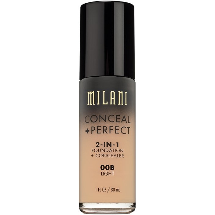 Fond De Ten + Corector Milani Conceal + Perfect 2 in 1 Foundation + Concealer Light - 00B