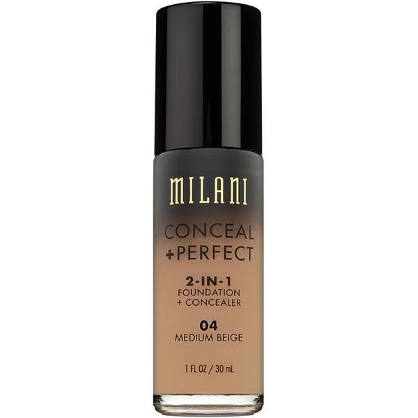 Fond De Ten + Corector Milani Conceal + Perfect 2 in 1 Foundation + Concealer Medium Beige - 04