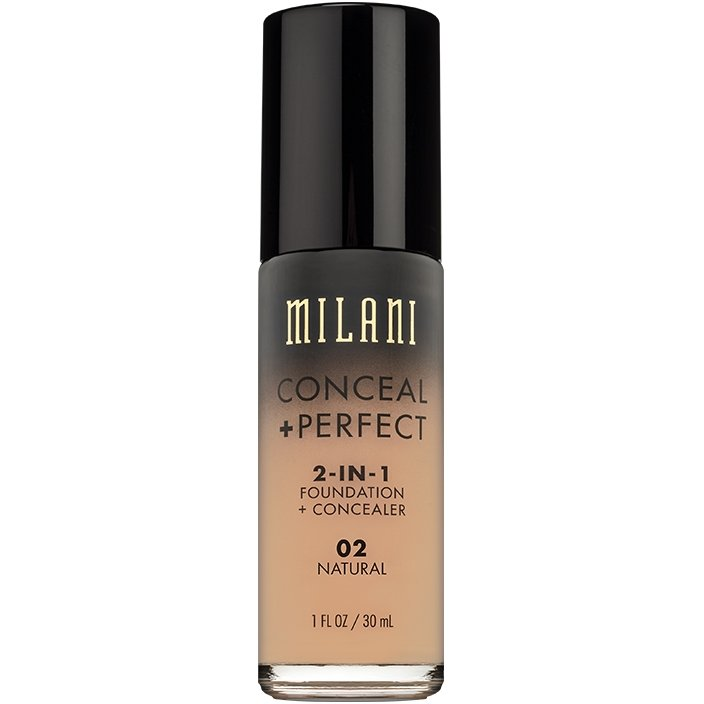 Fond De Ten + Corector Milani Conceal + Perfect 2 in 1 Foundation + Concealer Natural - 02