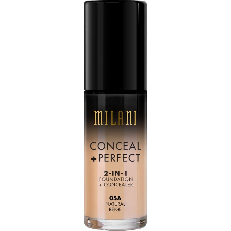 Fond De Ten + Corector Milani Conceal + Perfect 2 in 1 Foundation + Concealer Natural Beige - 05