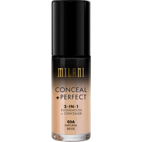 Fond De Ten + Corector Milani Conceal + Perfect 2 in 1 Foundation + Concealer Natural Beige - 05A