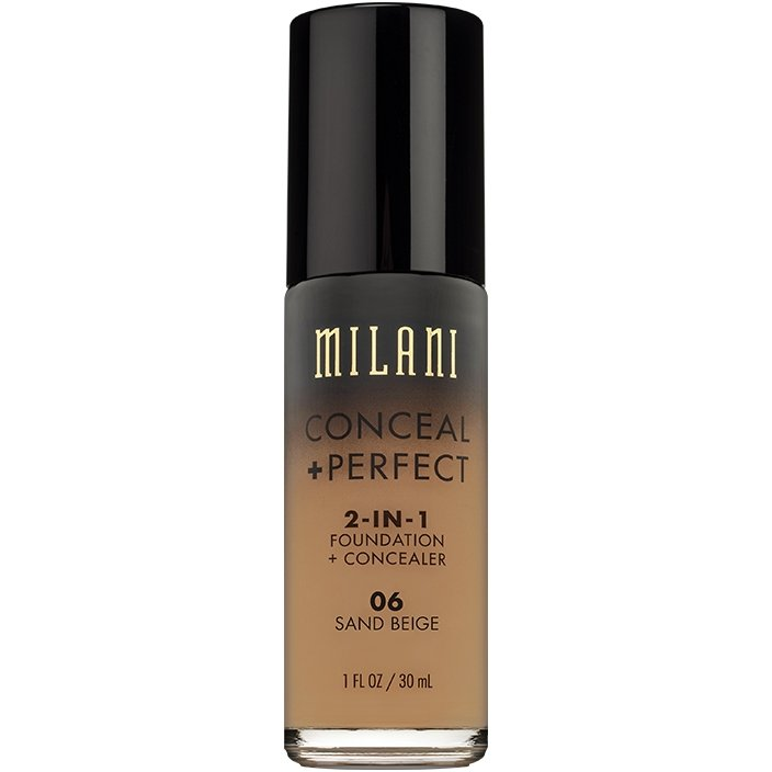 Fond De Ten + Corector Milani Conceal + Perfect 2 in 1 Foundation + Concealer Sand Beige - 06