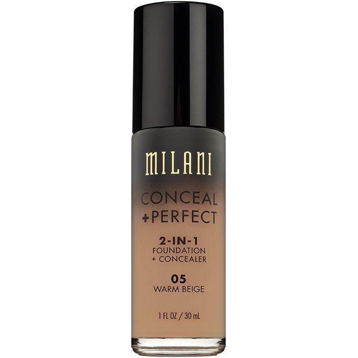 Fond De Ten + Corector Milani Conceal + Perfect 2 in 1 Foundation + Concealer Warm Beige - 05