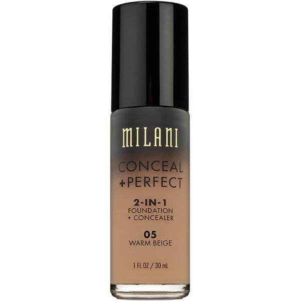 Fond De Ten + Corector Milani Conceal + Perfect 2 in 1 Foundation + Concealer Warm Beige - 05