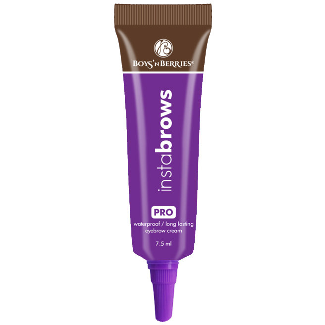 Gel crema pentru sprancene Boys'n Berries Instabrows Dark Chocolate
