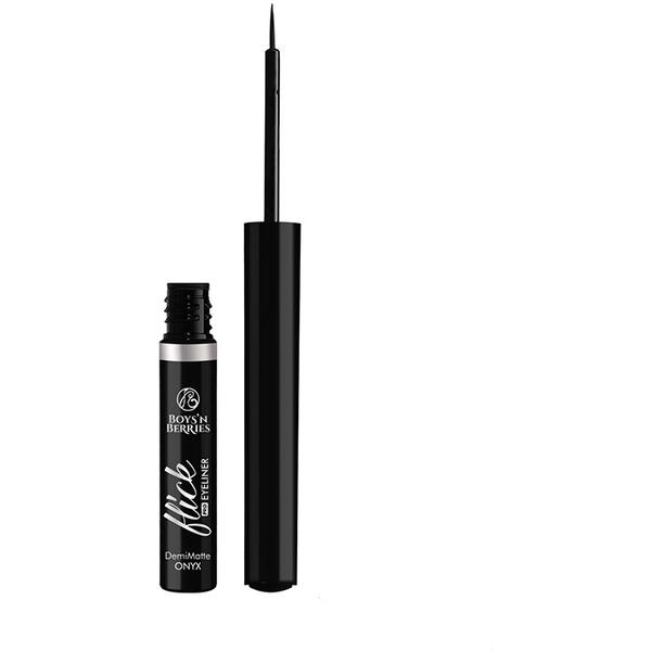 Boys n Berries Contur ochi Boys'n Berries Flick Pro Liquid Eyeliner Onyx (demi-matte)