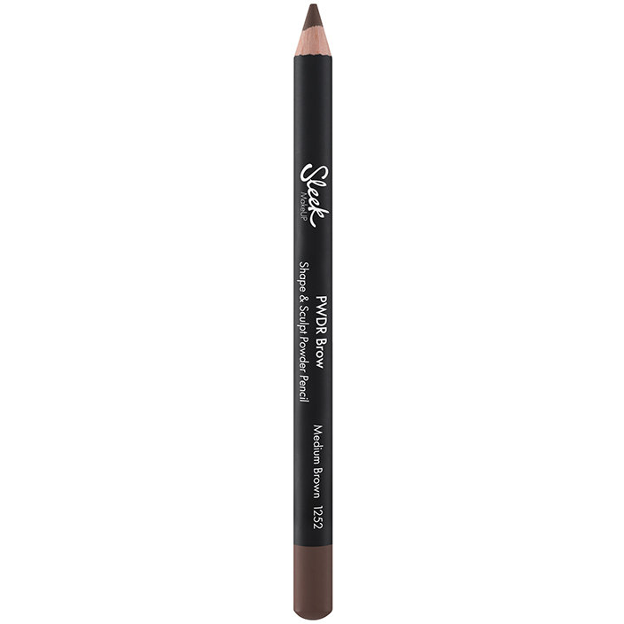 Creion de sprancene Sleek PWDR Brow Shape And Sculpt Powder Pencil Medium Brown