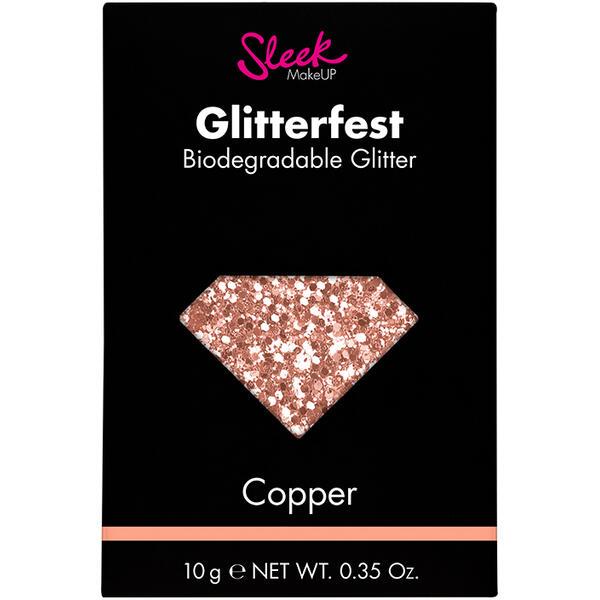 Sleek MakeUP Glitter Biodegradabil Sleek Glitterfest Copper