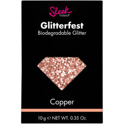Sleek MakeUP Glitter Biodegradabil Sleek Glitterfest Copper