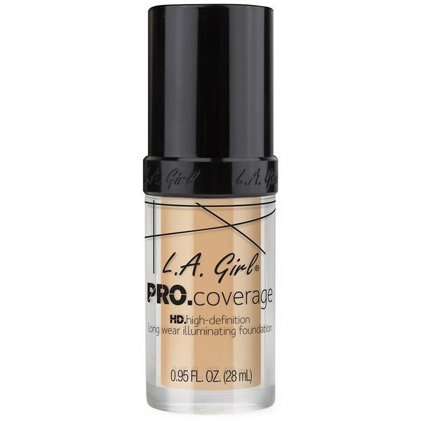 Fond De Ten L.A. Girl Pro Coverage HD High-Definition Long Wear Illuminating Foundation Fair GLM642