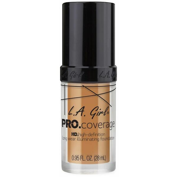 Fond De Ten L.A. Girl Pro Coverage HD High-Definition Long Wear Illuminating Foundation Nude Beige GLM 645