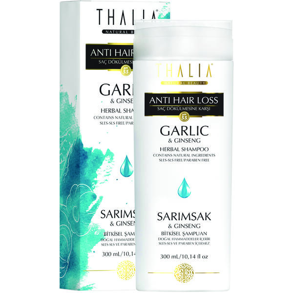 Sampon anti-cadere cu usturoi si ginseng Thalia 300 ml