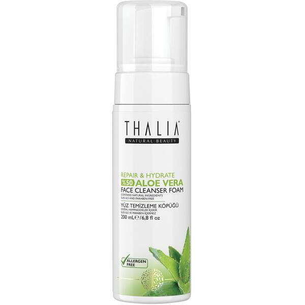 Spuma de curatare fata cu aloe vera Thalia Repair & Hydrate 200 ml
