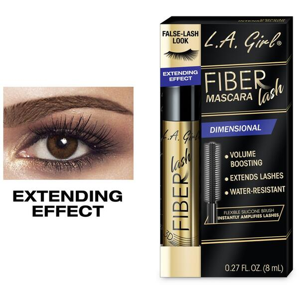Mascara L.A. Girl Fiber Lash Mascara GMS645 Intense Black