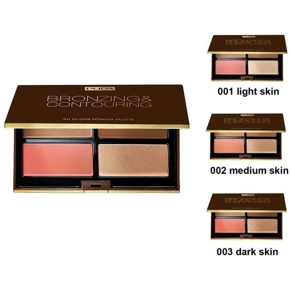 Paleta Conturare Pupa Milano Bronzing&Contouring Light Skin 01