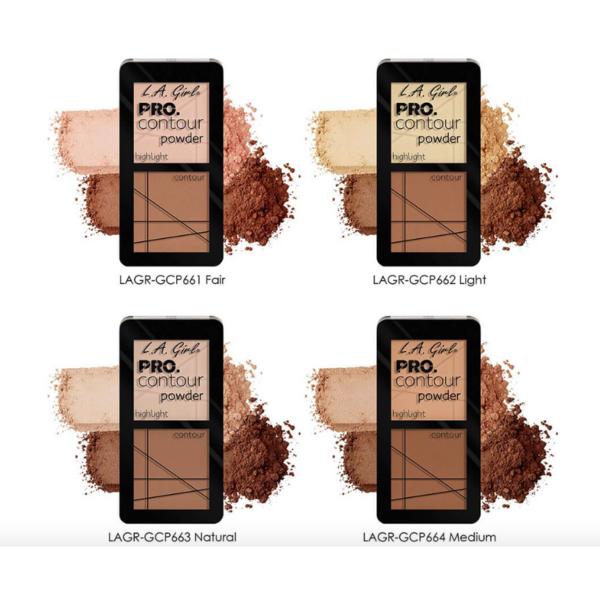 Paleta Contouring L.A. Girl Pro Contour Powder - GCP664 - Medium