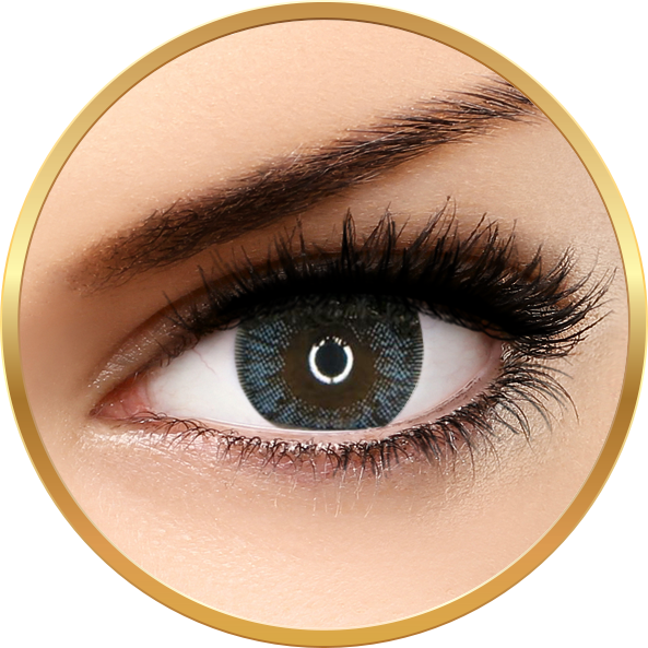 Adore Crystal Blue - lentile de contact colorate albastre trimestriale - 90 purtari (2 lentile/cutie)