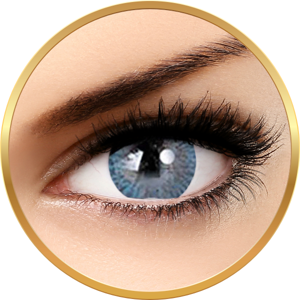 Adore Tri Tone Light Blue - lentile de contact colorate albastre trimestriale - 90 purtari (2 lentile/cutie)