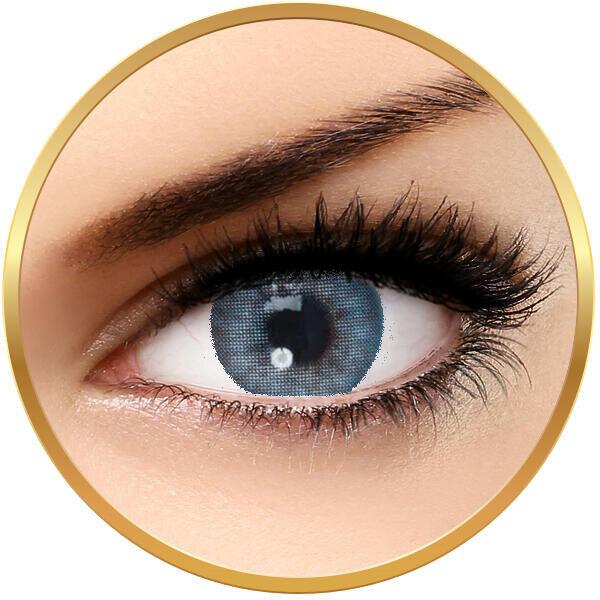Solotica Hidrocor Safira- lentile de contact colorate albastre anuale - 365 purtari (2 lentile/cutie)