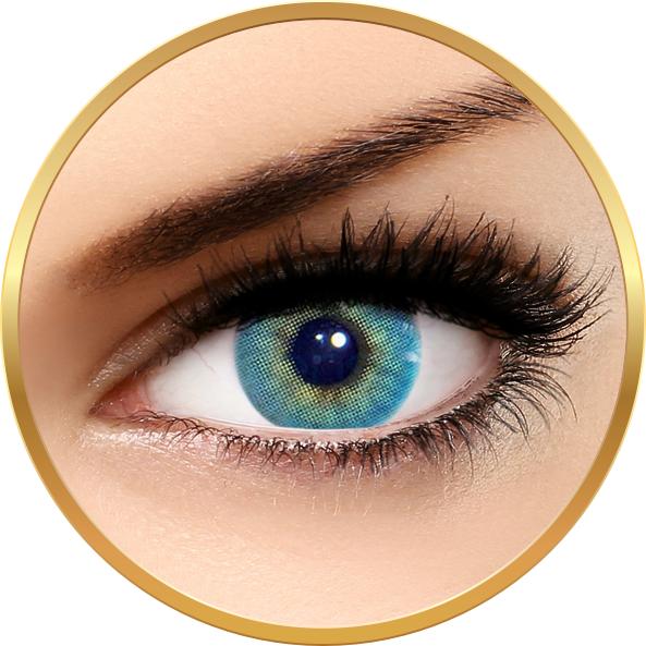 Solotica Hidrocor Topazio - lentile de contact colorate albastre anuale - 365 purtari (2 lentile/cutie)