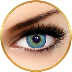 Solotica Solflex Natural Colors Topazio - lentile de contact colorate albastre lunare - 30 purtari (2 lentile/cutie)
