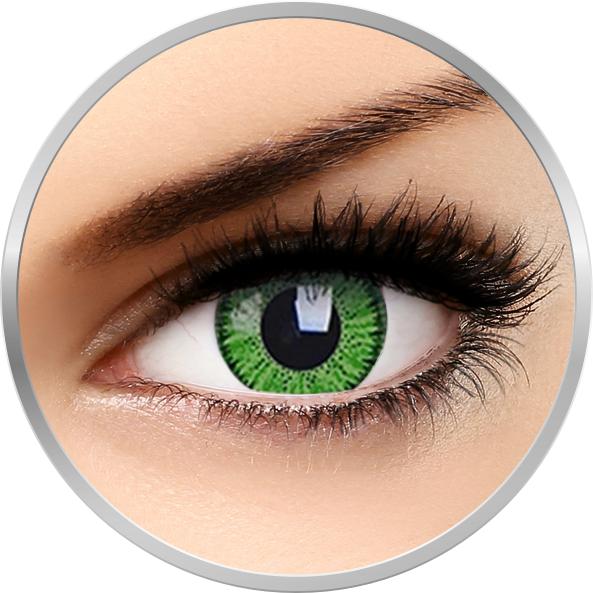 ZenVu Bright Green - lentile de contact colorate verzi trimestriale - 90 purtari (2 lentile/cutie)