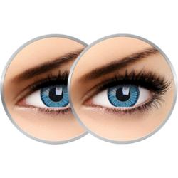 2 x Phantasee Vivid Blue - lentile de contact colorate albastre trimestriale - 90 purtari (2 lentile/cutie)