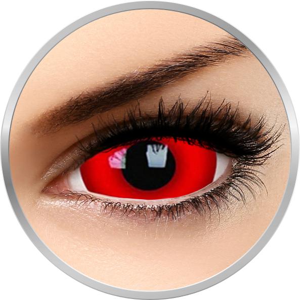 Phantasee Fancy Daredevil - lentile de contact colorate Crazy rosii anuale - 360 purtari (2 lentile/cutie)