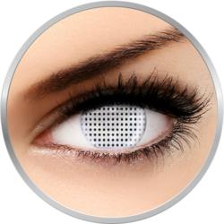 Fancy Exodus - lentile de contact colorate Crazy albe anuale 17 mm - 360 purtari (2 lentile/cutie)