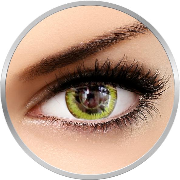 Phantasee Fancy Gaia - lentile de contact Crazy colorate galbene/negre anuale - 360 purtari (2 lentile/cutie)
