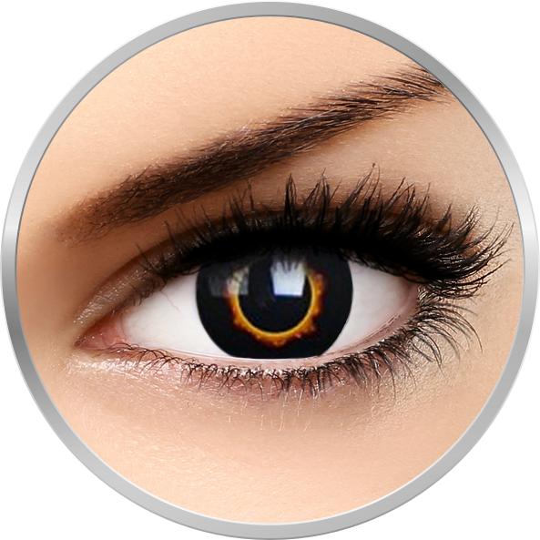 Phantasee Fancy Lunar Eclipse - lentile de contact Crazy colorate galbene/negre anuale - 360 purtari (2 lentile/cutie)