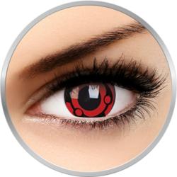 Fancy Madara - lentile de contact Crazy colorate rosii/negre anuale - 360 purtari (2 lentile/cutie)
