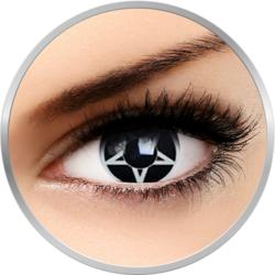Fancy Pentagrama - lentile de contact colorate Crazy albe/negre anuale - 360 purtari (2 lentile/cutie)