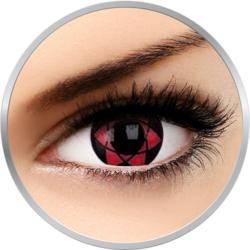Fancy Starfire - lentile de contact colorate Crazy rosii/negre anuale - 360 purtari (2 lentile/cutie)