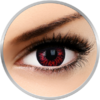 Phantasee Fancy Thunderbolts - lentile de contact colorate Crazy rosii/negre anuale - 360 purtari (2 lentile/cutie)