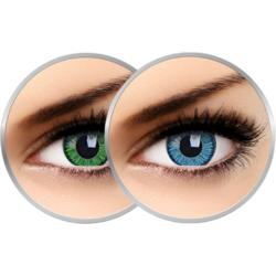 Lentile de contact colorate Vivid Green & Vivid Blue trimestriale - 90 purtari (2 x 2 lentile/cutie)