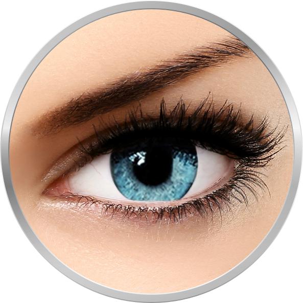 Soleko Queen's Solitaire Light Blue - lentile de contact colorate albastre trimestriale - 90 purtari (2 lentile/cutie)