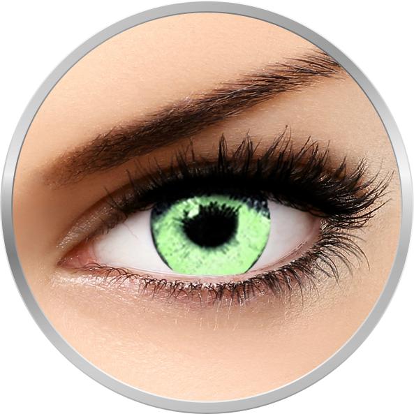 Soleko Queen's Solitaire Light Green - lentile de contact colorate verzi trimestriale - 90 purtari (2 lentile/cutie)