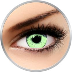 Queen's Solitaire Light Green - lentile de contact colorate verzi trimestriale - 90 purtari (2 lentile/cutie)