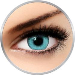 Queens Twins Acqua - lentile de contact colorate albastre lunare - 30 purtari (2 lentile/cutie)