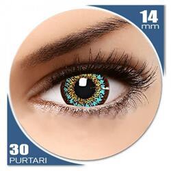ColorNova Blue - lentile de contact colorate albastre trimestriale - 30 purtari (2 lentile/cutie)